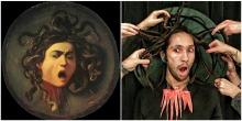 """Medusa"" by foolsdoart - Caravaggio (1597)"